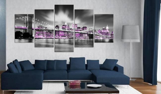 Obraz - Ametystowy Nowy Jork