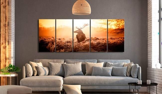 Obraz - Jeleń o zachodzie słońca