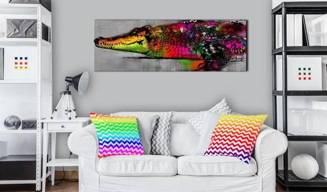 Obraz - Kolorowy aligator