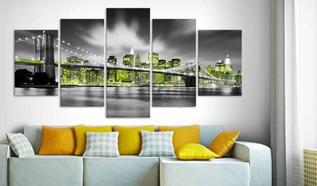 Obraz - Limonkowa dusza Nowego Jorku