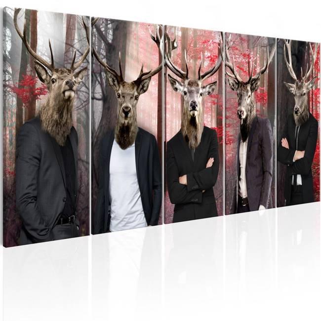Obraz - Ludzie w maskach