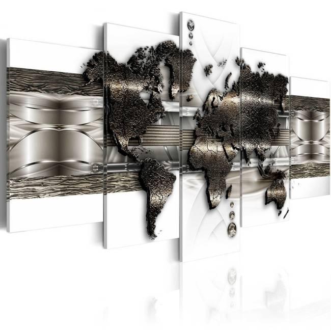 Obraz - Mapa metalowego świata II