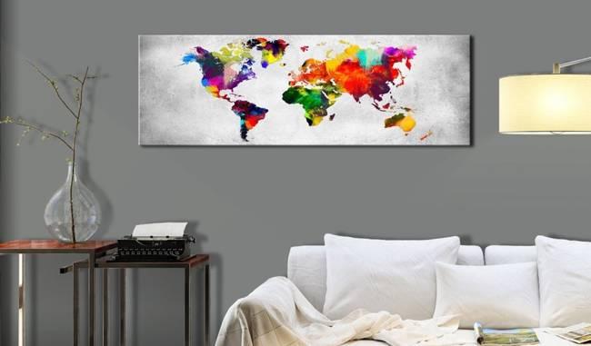 Obraz - Mapa świata: Kolorowa rewolucja