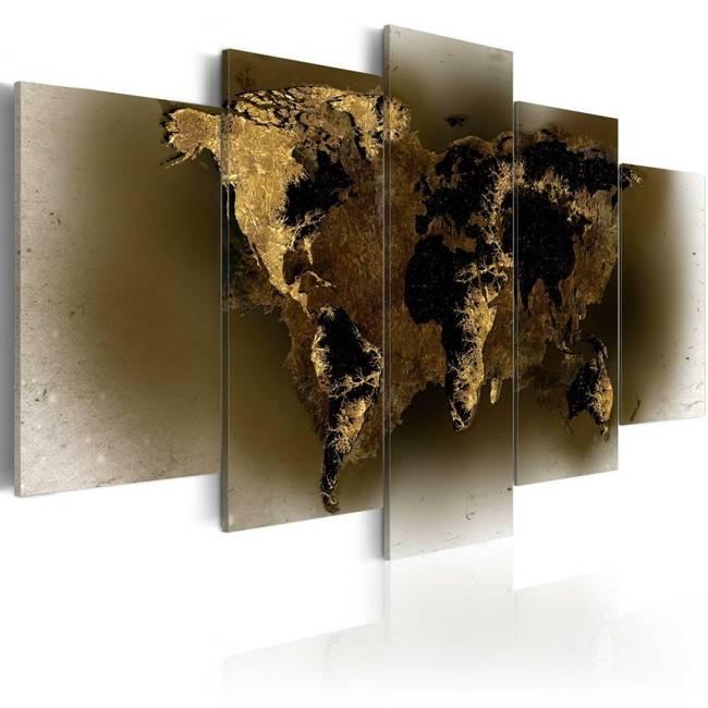 Obraz - Mosiężne kontynenty