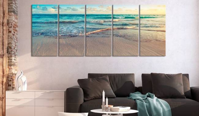 Obraz - Plaża w Punta Cana (5-częściowy) wąski