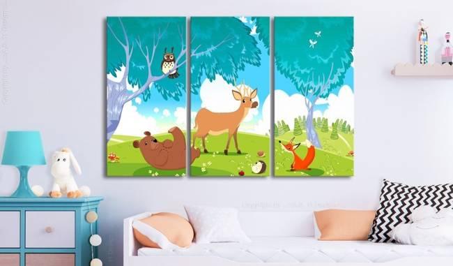 Obraz - Przyjazne zwierzęta (3-częściowy)