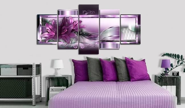 Obraz - Purpurowe lilie
