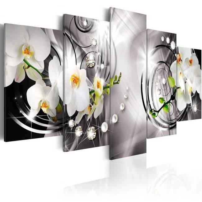 Obraz - Storczyk, perły i diamenty