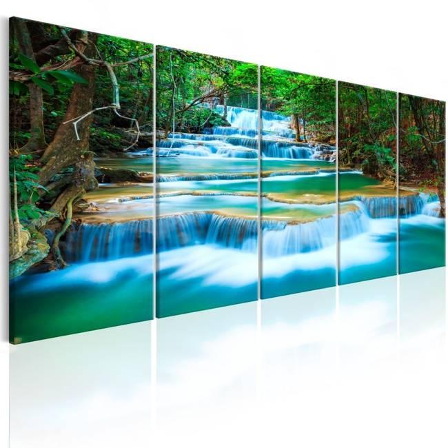 Obraz - Szafirowe wodospady I