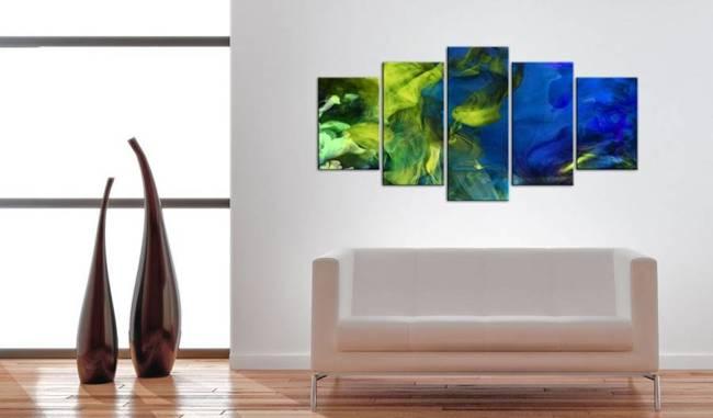 Obraz - Taniec zielonych płomieni