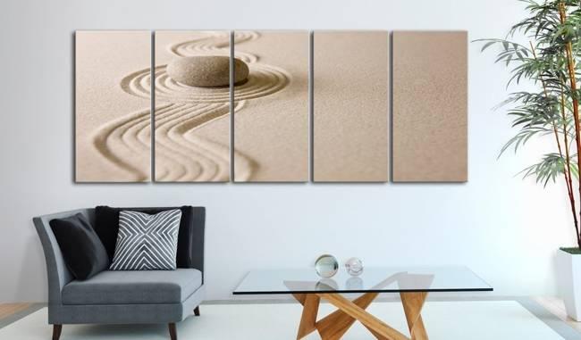 Obraz - Zen: Piasek i kamień