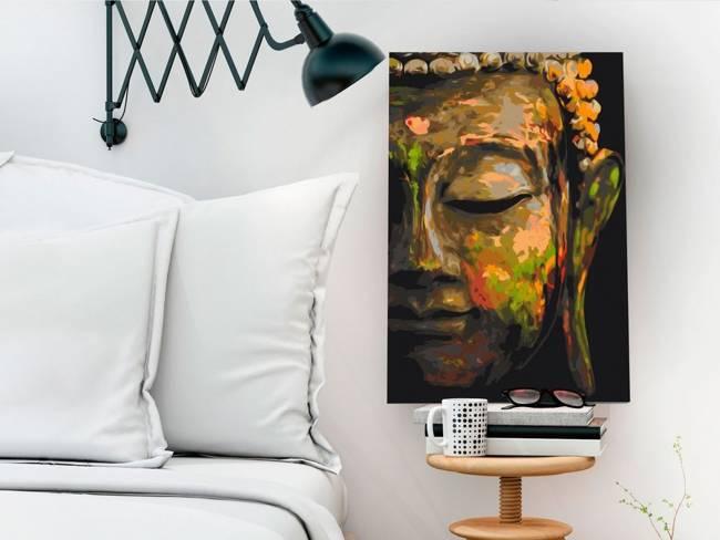 Obraz do samodzielnego malowania - Budda w cieniu