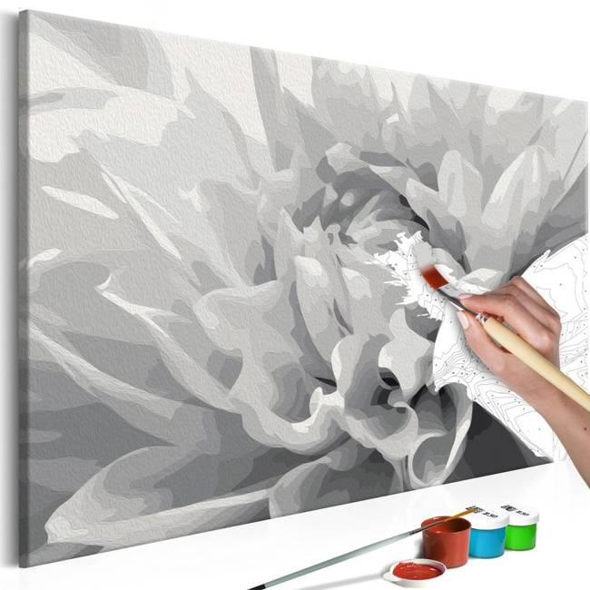 Obraz do samodzielnego malowania - Czarno-biały kwiat
