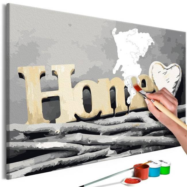 Obraz do samodzielnego malowania - Home na gałęziach