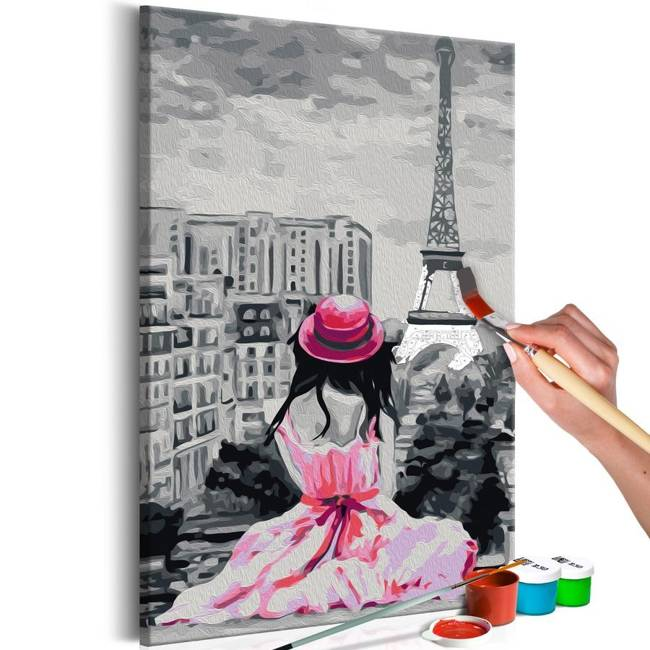 Obraz do samodzielnego malowania - Paryż - widok na Wieżę Eiffla