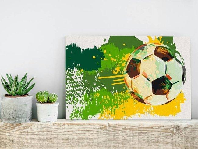 Obraz do samodzielnego malowania - Piłkarskie emocje