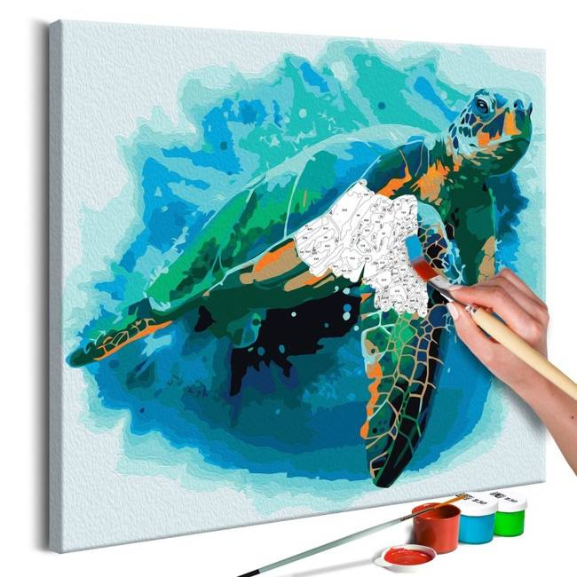 Obraz do samodzielnego malowania - Żółw