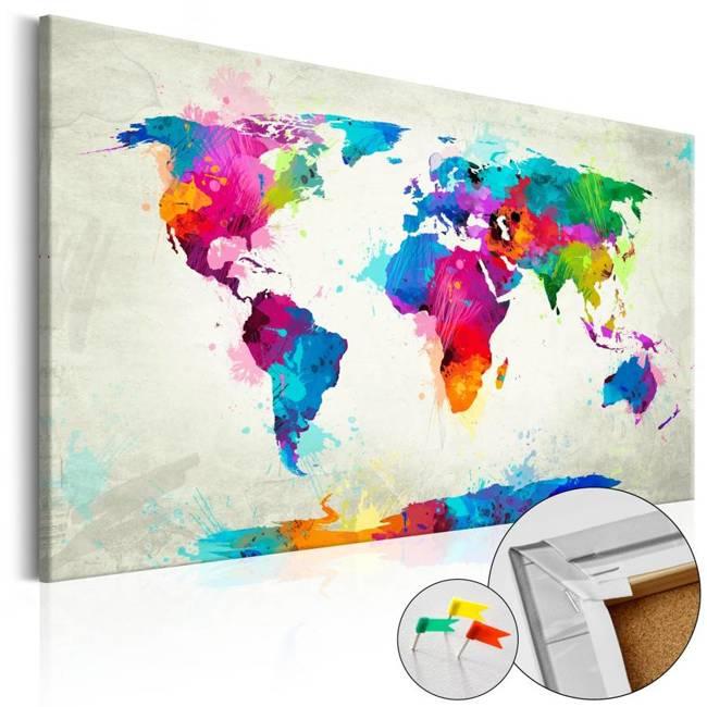 Obraz na korku - Eksplozja kolorów [Mapa korkowa]