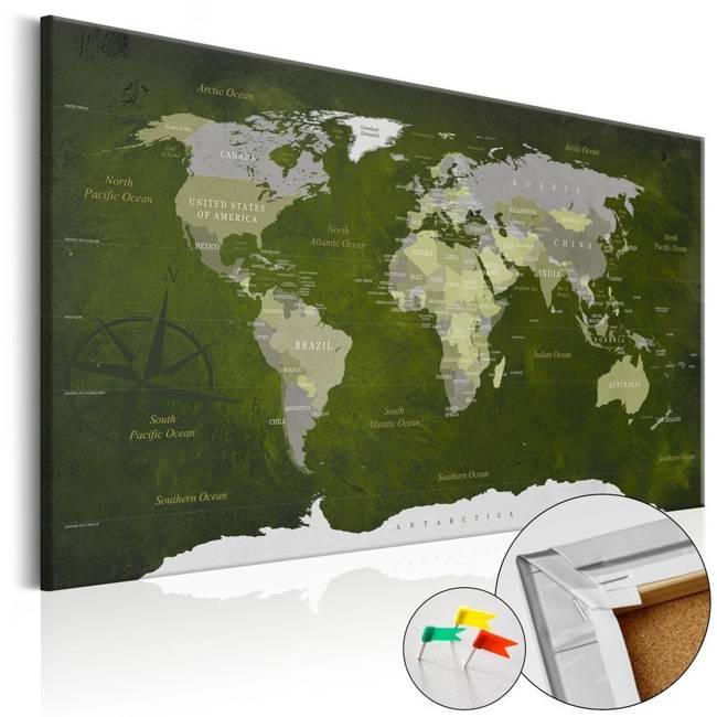 Obraz na korku - Malachitowy świat [Mapa korkowa]