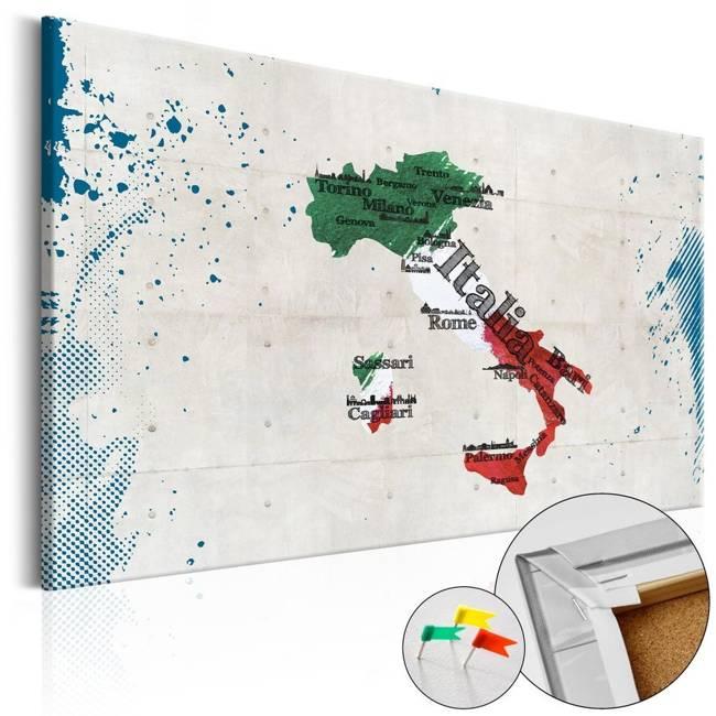 Obraz na korku - Włochy [Mapa korkowa]