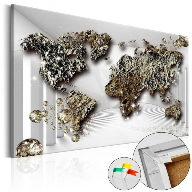Obraz na korku - Złota przyszłość [Mapa korkowa]