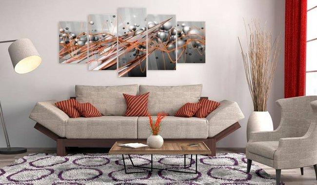 Obraz na szkle akrylowym - Pomarańczowy strumień [Glass]