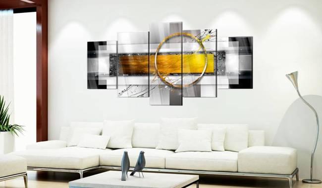 Obraz na szkle akrylowym - Złocisty strzał [Glass]