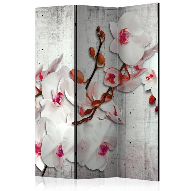 Parawan 3-częściowy - Betonowa orchidea [Room Dividers]