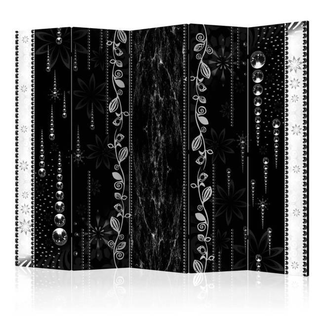 Parawan 5-częściowy - Czarna elegancja II [Room Dividers]