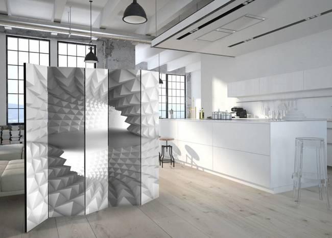 Parawan 5-częściowy - Strukturalny tunel II [Room Dividers]