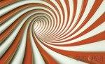 Fototapeta Biało-pomarańczowy tunel 3D 2149
