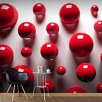 Fototapeta - Czerwone kulki