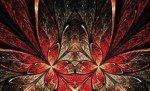Fototapeta Czerwono-brązowe abstrakcyjne wzory 648