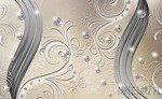 Fototapeta Diamentowy wzór na kremowym tle 2010
