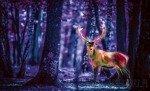 Fototapeta Fluorescencyjny jeleń 3444