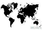 Fototapeta Mapa świata na białym tle 3604