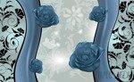 Fototapeta Niebieskie róże 1242