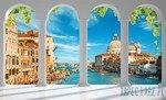 Fototapeta Widok na Wenecję przez kolumny 2354