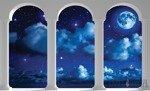 Fototapeta Widok na gwieździstą niebo przez kolumny 2346