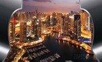 Fototapeta Wieżowce Dubaju - wschód słońca 2203
