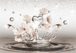 Fototapeta Wodne serce i kwiaty 3492