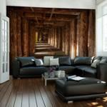 Fototapeta - Wooden passage