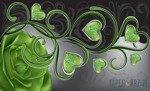 Fototapeta Zielona róża z sercami 709