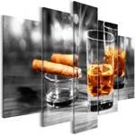 Obraz - Cygara i whisky (5-częściowy) szeroki