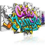 Obraz - Graffiti: miejska dżungla