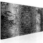 Obraz - Mandala: Szara głębia