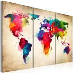 Obraz - Tęczowe kontynenty