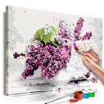 Obraz do samodzielnego malowania - Wazon i kwiaty