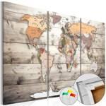 Obraz na korku - Historia podróży [Mapa korkowa]
