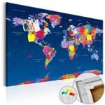 Obraz na korku - Mapa świata: Artystyczna fantazja